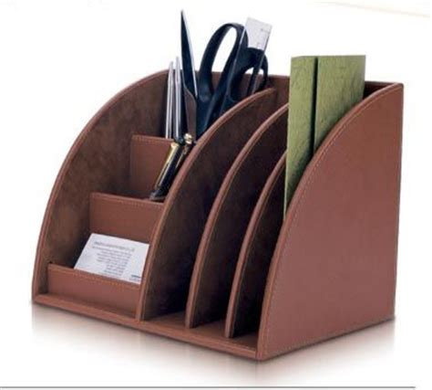 fashionable desk accessories fashionable design faux leather desktop organizer for 2012