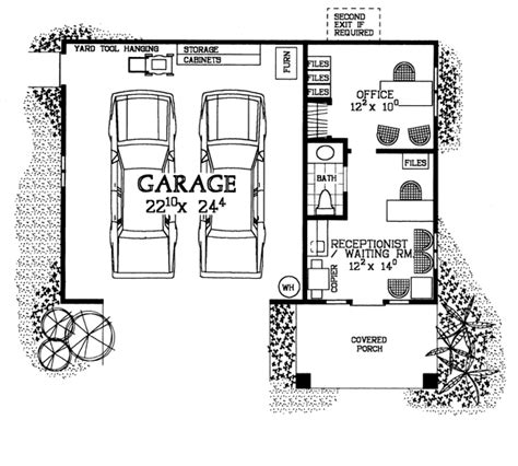 Garage Floor Plans With Bathroom by Familyhomeplans Plan Number 91245 Order Code 00web