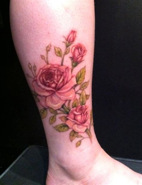powerline tattoo tattoos flower rose roses ankle