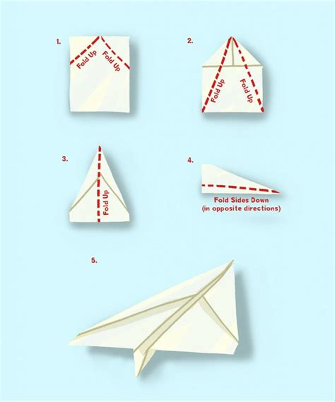 Fold Paper Aeroplane - simple paper plane kid s crafts looks