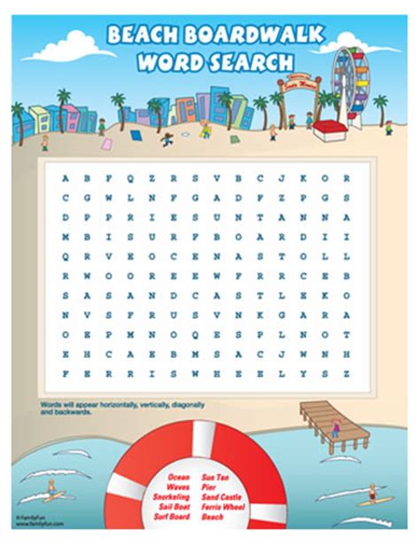 printable word search beach from the heart up free printable games for kids