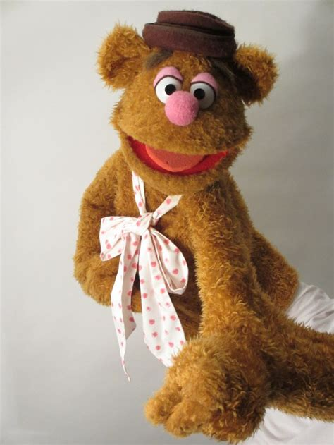 Handmade Puppets For Sale - fozzie constructed from foam antron fleece and fur
