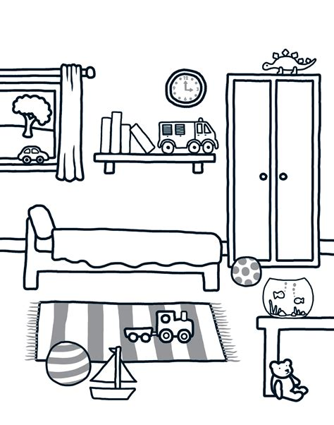 bedroom for coloring download and print colouring at home priddy books