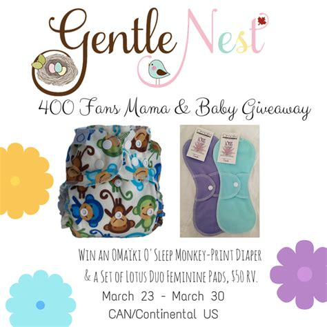 Grand Opening Giveaway - gentle nest 400 fans mama baby giveaway