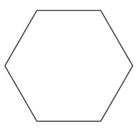 6 inch hexagon template 6 sided shape hexagon