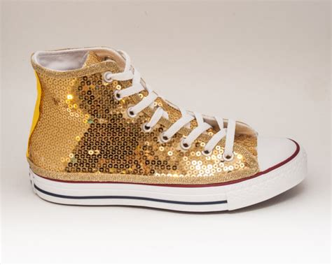 gold sequin high top sneakers sequin gold canvas converse canvas hi top by princesspumps