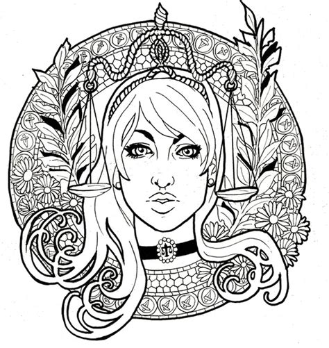 Libra Zodiac Symbols Coloring Pages Coloring Pages Zodiac Coloring Pages