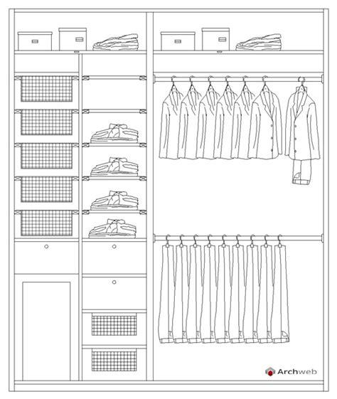 armadio dwg schema per allestire una cabina armadio