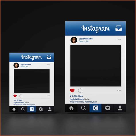 List Of Synonyms And Antonyms Of The Word Instagram Frames Template Instagram Photo Frame Template