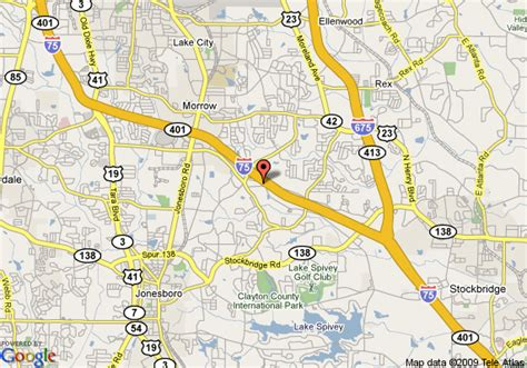 map of extended stay america atlanta morrow morrow