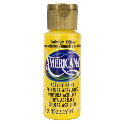 decoart americana 2 oz cadmium yellow acrylic paint dao10 3 the home depot