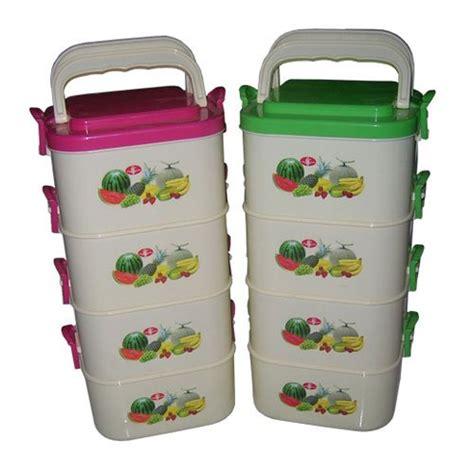 Rantang Susun Plastik jual rantang plastik bulat 4 susun murah