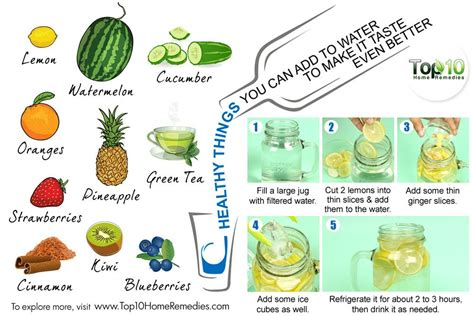 Things To Make Your Water by 10 Healthy Things You Can Add To Water To Make It Taste
