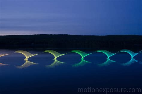 light orlando the motions of canoers and kayakers revealed with leds in