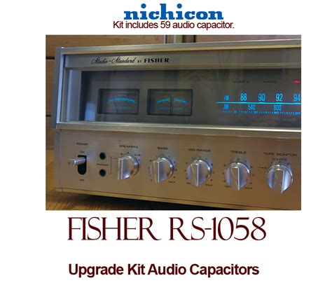 rs capacitors fisher rs 1058 upgrade kit audio capacitors