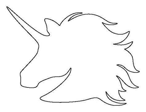 unicorn outline unicorn head pattern use the printable