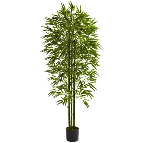 Outdoor Artificial Tree - 6 foot outdoor artificial bamboo tree limited uv 5386