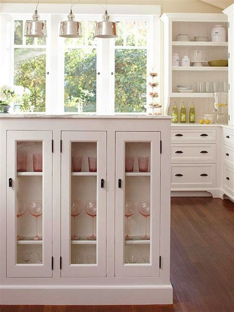 small eat in kitchen banquette half partition wall
