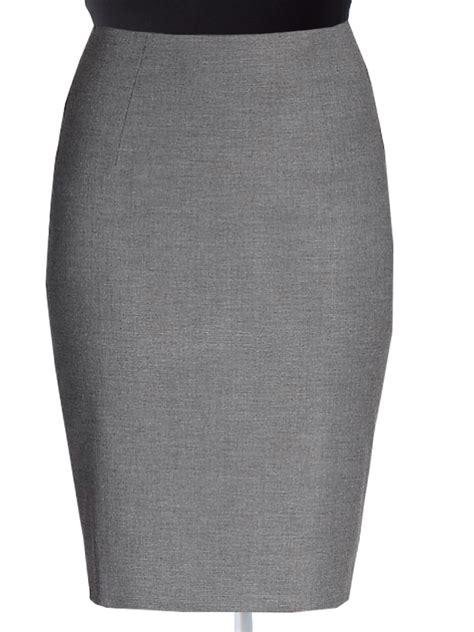 plus size office wear wool blend pencil skirts elizabeth