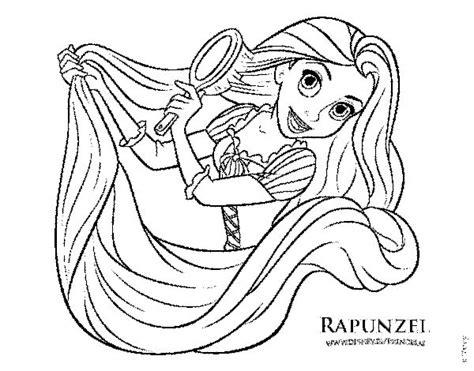princesas de disney para colorear dibujo de enredados rapunzel pein 225 ndose para colorear