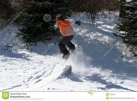 backyard snowboarding backyard snowboarding stock photos image 3124813