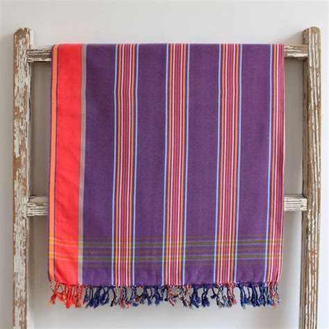 magenta home decor magenta striped east african kikoy 100 cotton