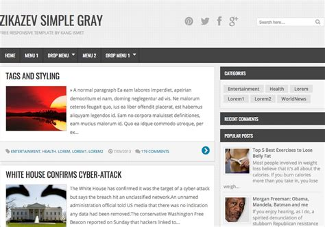entertainment templates for blogger zikazev simple gray blogger template 2014 free blogger