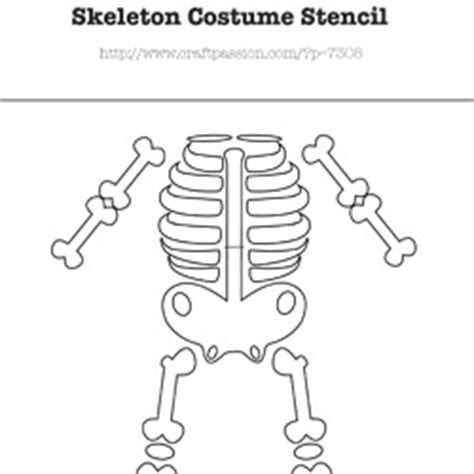 skeleton costume template plantilla para disfraz casero bridal pieces
