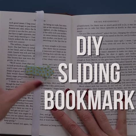 libro jay shafers diy book diy sliding bookmark never lose your place again diy s separador de libros
