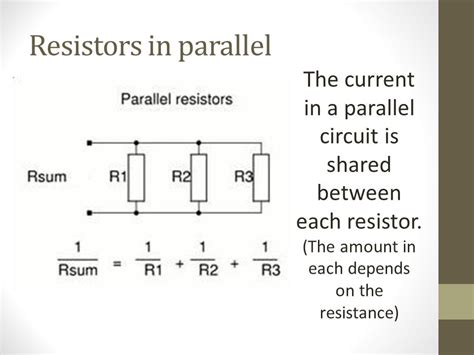 resistors in parallel same current circuit electricity ppt