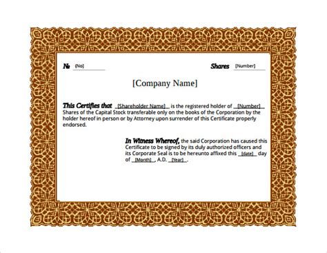28 Microsoft Certificate Templates Download For Free Sle Templates Microsoft Award Templates
