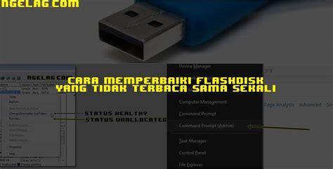 Format Flashdisk Yang Tidak Bisa Terbaca | cara memperbaiki flashdisk yang tidak terbaca sama sekali