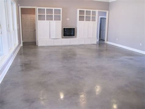 Grey Stained Concrete Floors.   Basement   Concrete floors