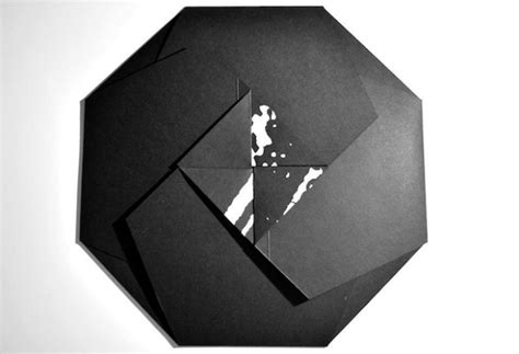 Origami Sleeve - check out this fold out origami record sleeve designed by