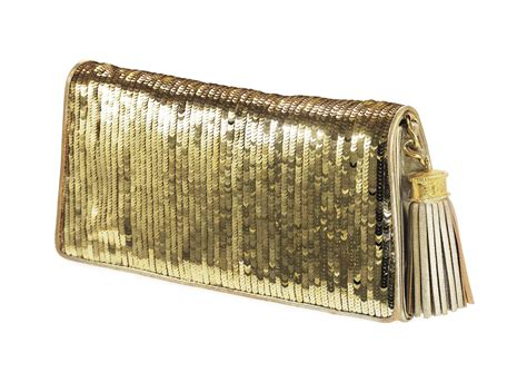 Clutch Fashion 000 Diskon a gold leather and sequin evening clutch bag labeled chanel probably 1980s christie s