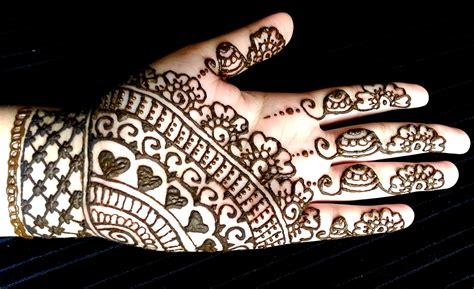 simple full hand eid henna easy  quick mehendi design youtube