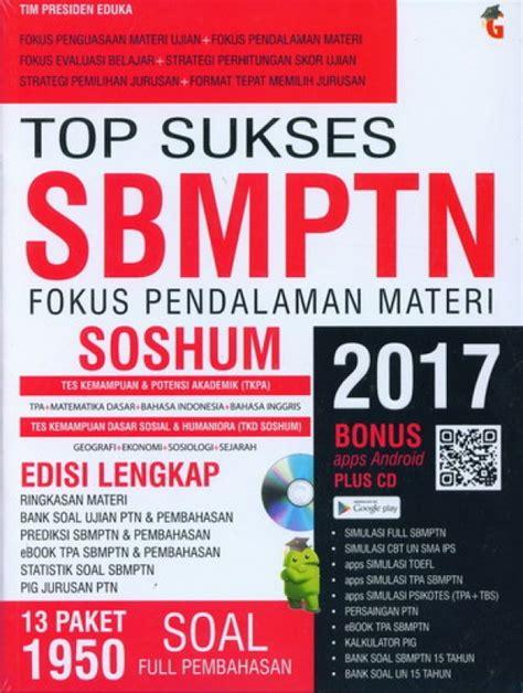 Buku Sbmptn Soshum 2018 Plus Cd bukukita top sukses sbmptn fokus pendalaman materi soshum 2017