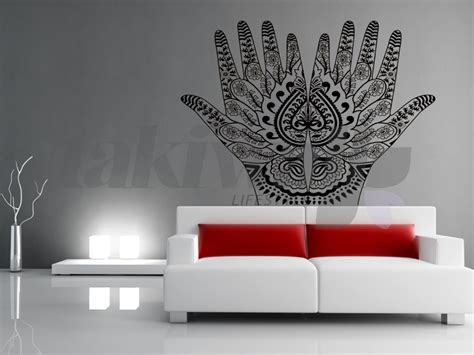 henna design wall decals dubai print sticker henna tribal ethnic dubai shop