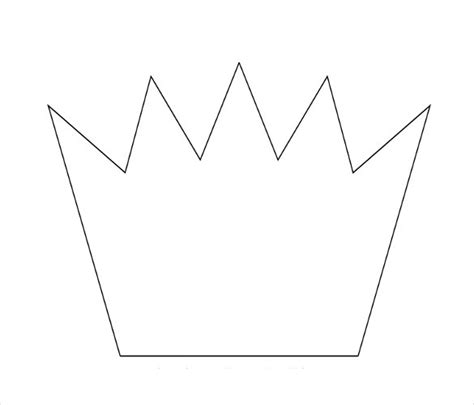 cardboard crown template 14 paper crown templates free sle exle format