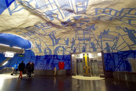 Stockholm Komo inside the stockholm metro the gallery in