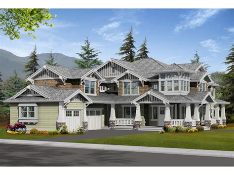 Large Craftsman House Plans by Alva Luxury Craftsman Home Plan 071s 0024 House Plans