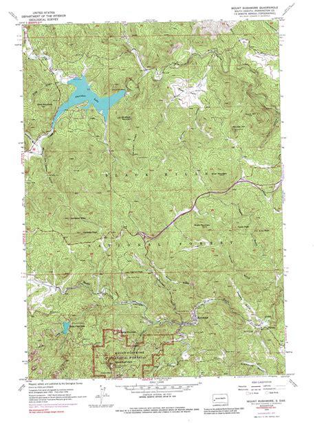 mt rushmore map mount rushmore topographic map sd usgs topo 43103h4
