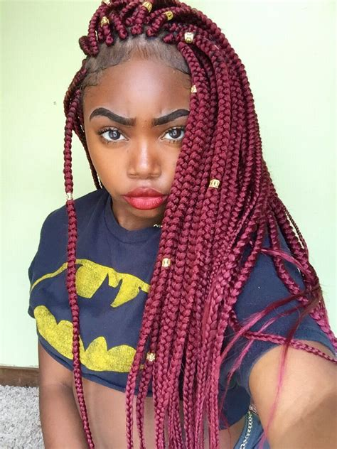 20 epic blonde red burgundy box braids to try sada james on twitter quot https t co ckinm76arp quot box
