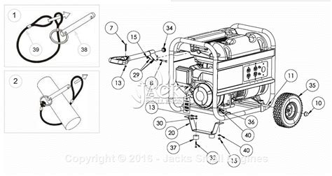 coleman powermate 5000 generator parts wiring diagrams