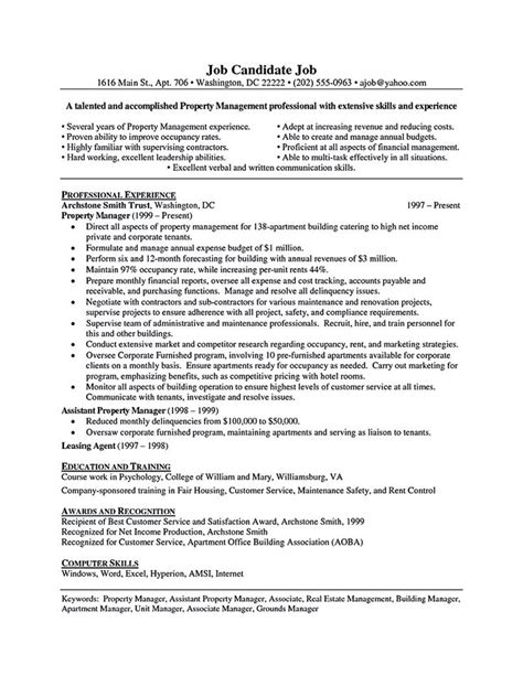 why is a resume called a cv property manager resume should be rightly written to