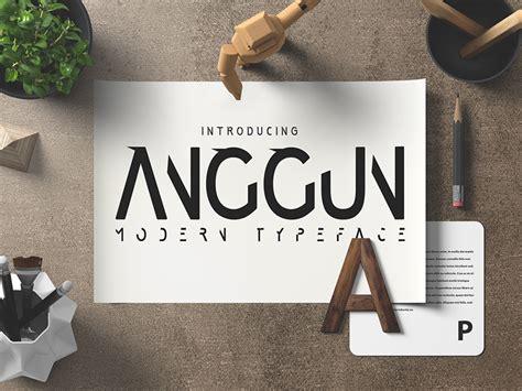 A N Anggun anggun dafont