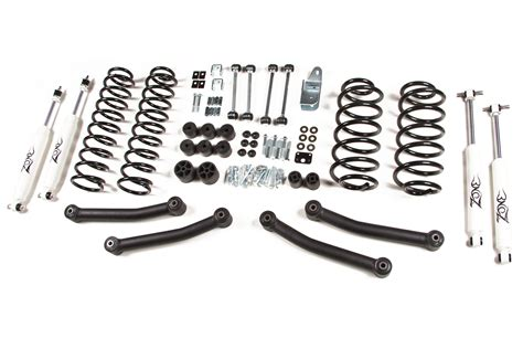 Jeep Wrangler Tj Lift Kit Zone Offroad 4 Quot Coil Springs Lift Kit 1997 2006 Jeep