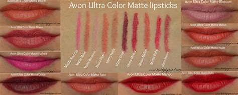 Lipstik Avon avon ultra color matte lipstick swatches by miss l