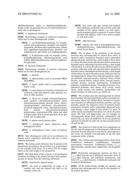 creatine define patent us20050131065 active substance combination of