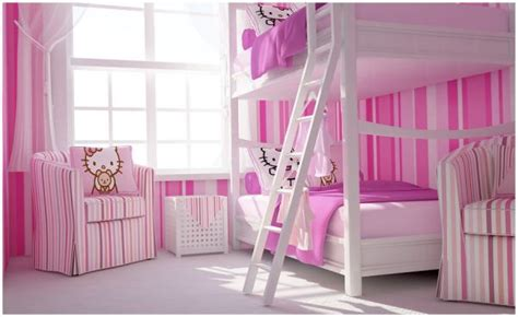 girls bedrooms with bunk beds stylish girls pink bedrooms ideas